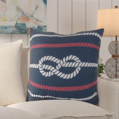 Sweetwood Outdoor Throw Pillow Color: Cobalt/Poppy