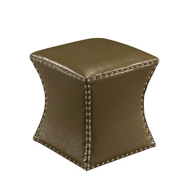 Forestdale Square Ottoman Upholstery: Green