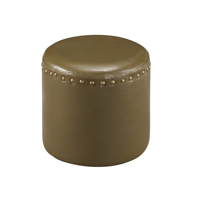 Forestdale Round Ottoman Upholstery: Green