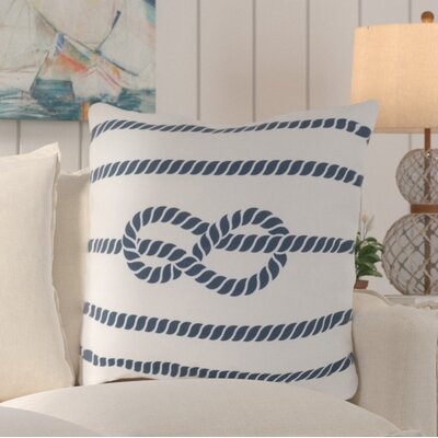 Sweetwood Outdoor Throw Pillow Color: Ivory/Cobalt