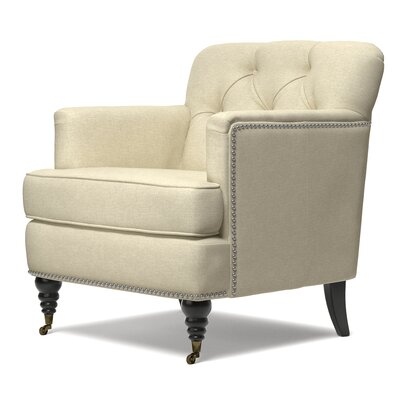Bakers Arm Chair Upholstery Color: Oatmeal