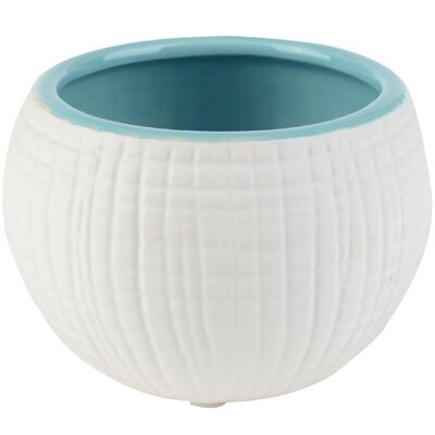 Breakwater Bay Woven Ceramic Pot Planter (Set of 4)