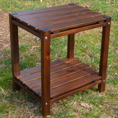 Damariscotta Slat Top End Table