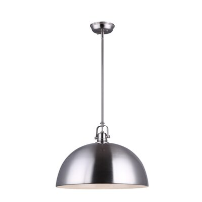 State Line 1-Light Bowl Pendant Finish: Brushed Nickel, Size: 59.75 H x 9 W x 11.75 D