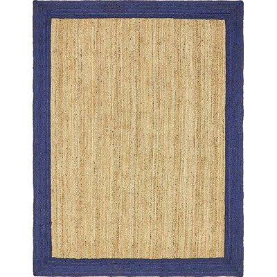 Elsmere Hand-Braided Natural Area Rug Rug Size: 8 x 10