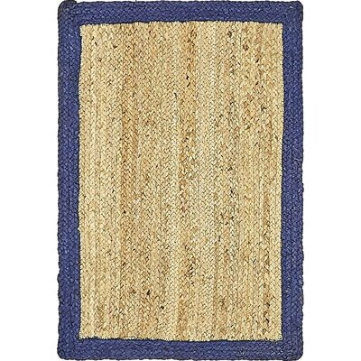 Elsmere Hand-Braided Natural Area Rug Rug Size: 2 x 3