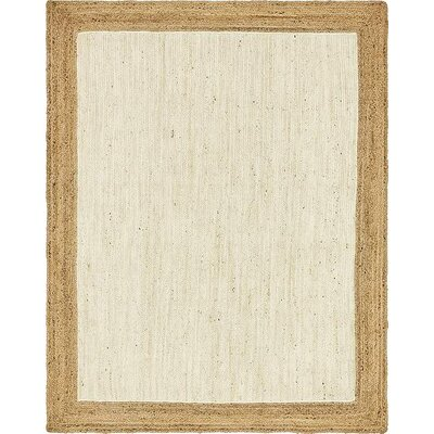Antiqua Hand-Braided White Area Rug Rug Size: Rectangle 9 x 12