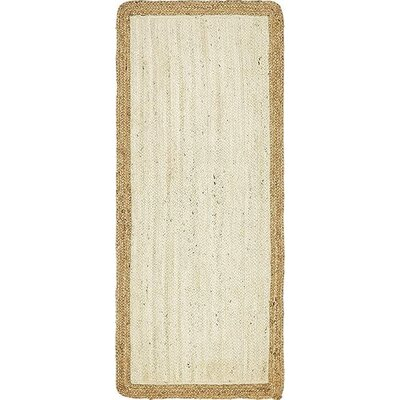 Antiqua Hand-Braided White Area Rug Rug Size: Runner 26 x 6