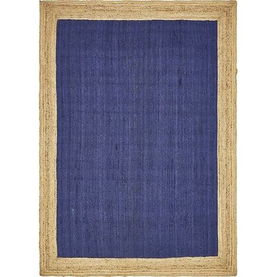 Vassar Hand-Braided Navy Blue Area Rug Rug Size: 9 x 12