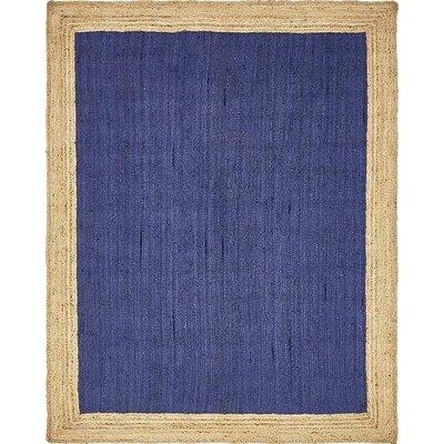 Calathea Hand-Braided Navy Blue Area Rug Rug Size: 8 x 10