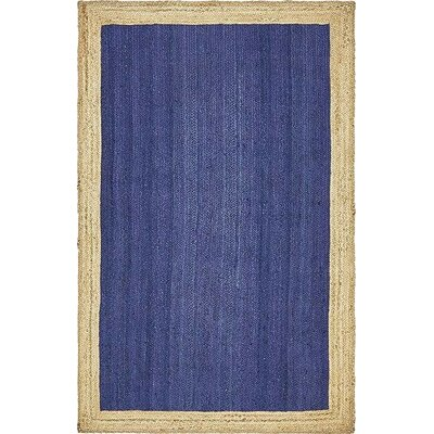 Calathea Hand-Braided Navy Blue Area Rug Rug Size: 5 x 8
