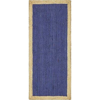 Vassar Hand-Braided Navy Blue Area Rug Rug Size: Runner 2 6 x 6