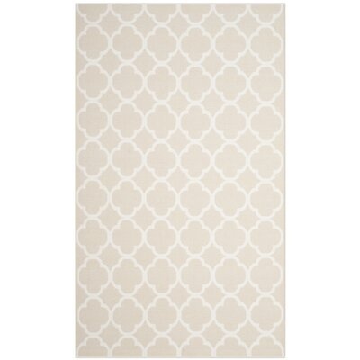 Desota Hand-Woven Beige/Ivory Area Rug Rug Size: Rectangle 8 x 10