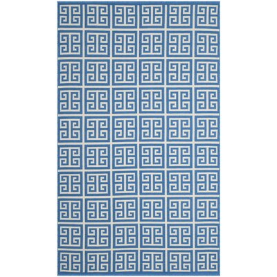 Walton Hand-Woven Blue/Ivory Area Rug Rug Size: Square 6