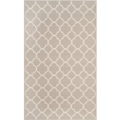 Desota Hand-Woven Gray/Ivory Area Rug Rug Size: Rectangle 3 x 5