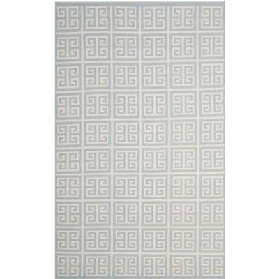 Royalton Hand-Woven Light Blue/Ivory Area Rug Rug Size: Rectangle 26 x 4