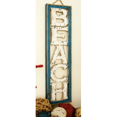 Beach Sign Wall Décor
