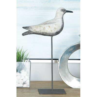 Needham Metal Sea Bird Figurine Size: 18 H x 11 W x 4 D