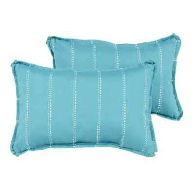 Balentine Dot Striped Indoor/Outdoor Lumbar Pillow