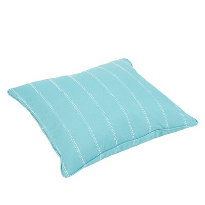 Berwyck Dot Piped Stripes Indoor/Outdoor Piped Floor Pillow