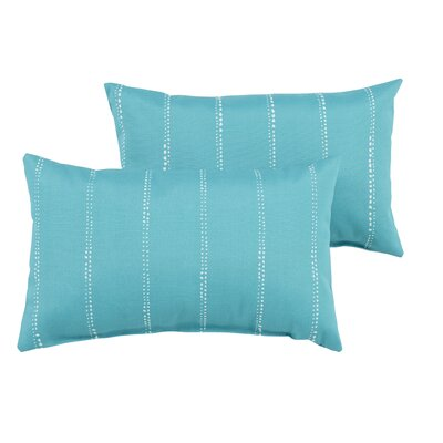 Berwyck Dot Stripes Indoor/Outdoor Lumbar Pillow