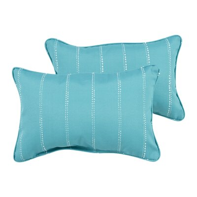 Balentine Dot Stripes Indoor/Outdoor Piped Lumbar Pillow