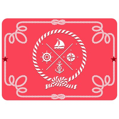 Jacksonville Coral Nautical Icons Doormat
