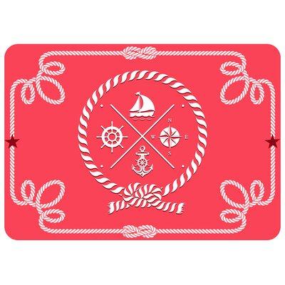Portwood Coral Nautical Icons Doormat