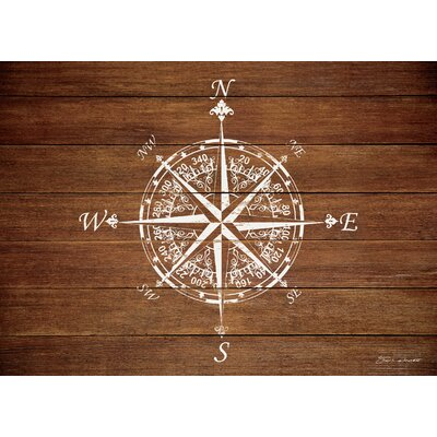 Jacksonville Compass on Wood Kitchen Mat