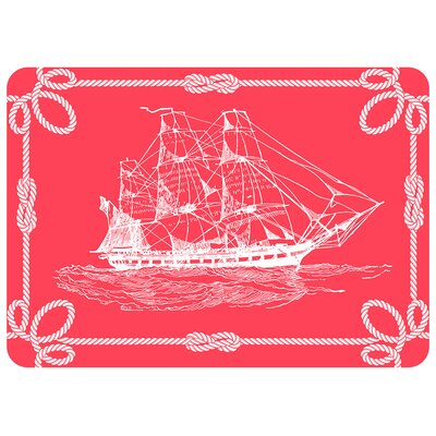 Portwood Coral Ship Kitchen Mat