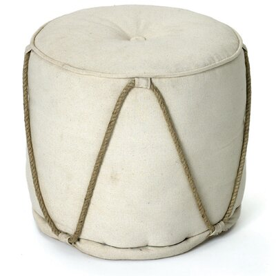 St. Lucie Off White Pouf Ottoman