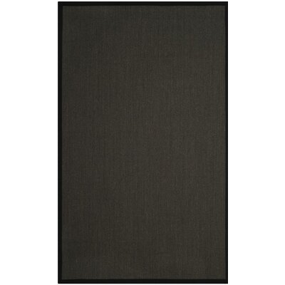 Anthracite Anthracite/Black Area Rug Rug Size: Square 6