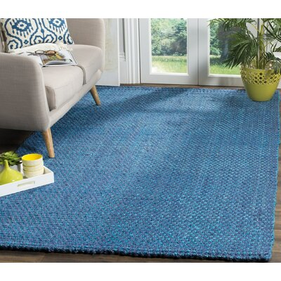 Emery Hand-Woven Blue Area Rug Rug Size: Rectangle 4 x 6