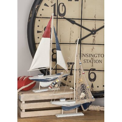 2 Piece Sailing Model Boat Set