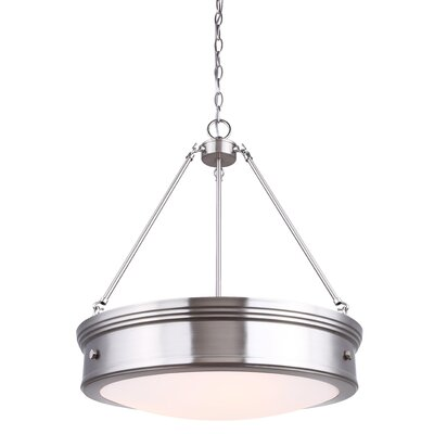 Cummingham 4-Light Drum Pendant Finish: Brushed Nickel