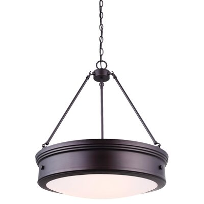 Frankfield 4-Light Drum Pendant Finish: Oil Rubbed Bronze