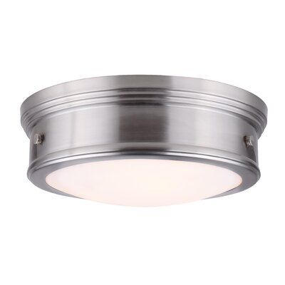 Frankfield 3-Light Flush Mount Finish: Brushed Nickel