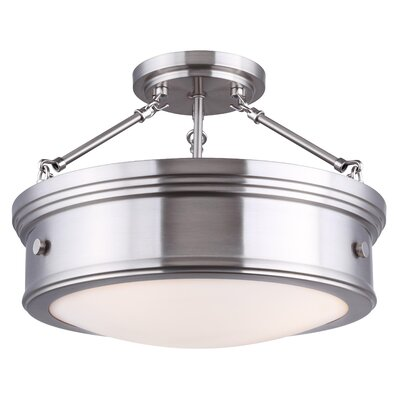 Cummingham 3-Light Semi Flush Mount Finish: Brushed Nickel