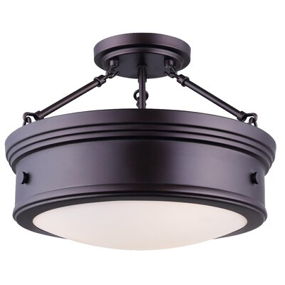 Cummingham 3-Light Semi Flush Mount Finish: Oil Rubbed Bronze