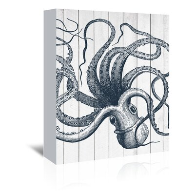 Wood Octopus Graphic Art on Wrapped Canvas Size: 11