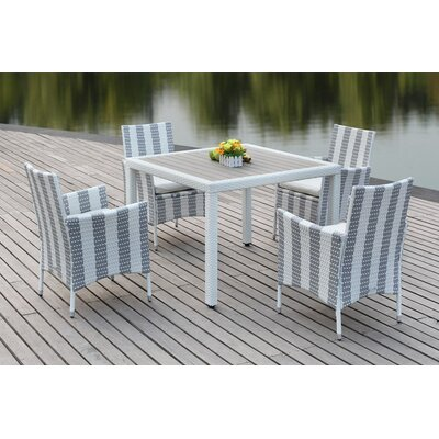 Thorntown 5 Piece Dining Set Finish: Grey/White