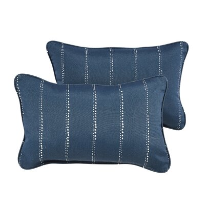 Balentine Dots Indoor/Outdoor Lumbar Pillow Color: Navy