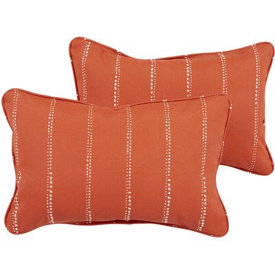 Balentine Dots Indoor/Outdoor Lumbar Pillow Color: Orange