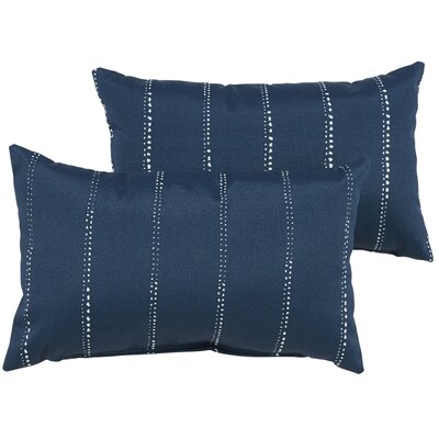 Balentine Outdoor Lumbar Pillow Color: Navy
