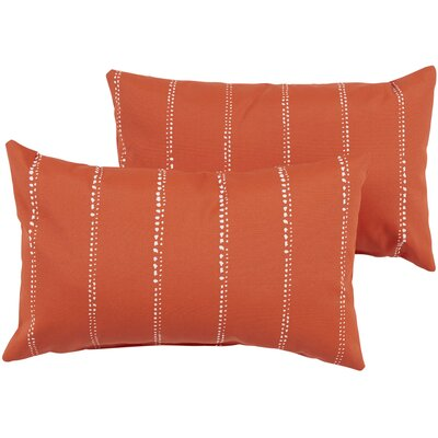 Berwyck  Indoor/Outdoor Lumbar Pillow Color: Orange