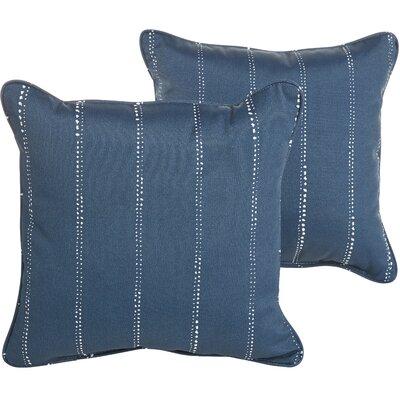 Berwyck Indoor/Outdoor Throw Pillow Color: Navy