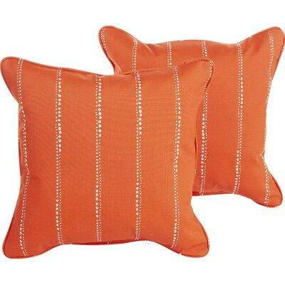 Berwyck Indoor/Outdoor Throw Pillow Color: Orange