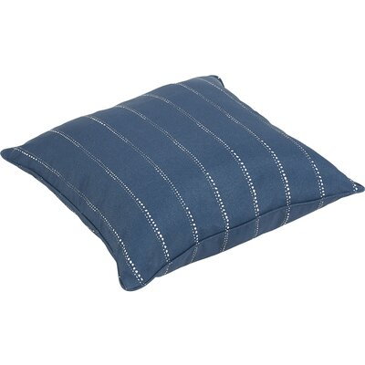 Balentine 26 Square Indoor/Outdoor Throw Pillow Color: Navy