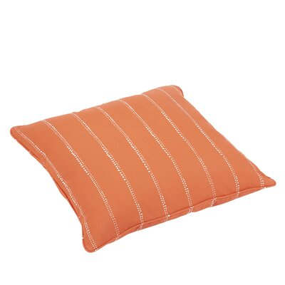Balentine 26 Square Indoor/Outdoor Throw Pillow Color: Orange