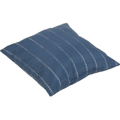 Balentine Traditional Indoor/Outdoor Throw Pillow Color: Navy